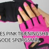 pink træningshandsker